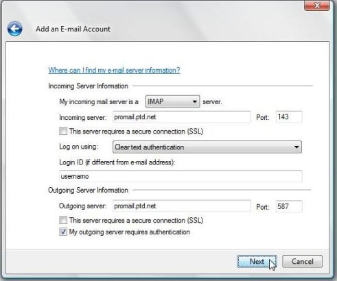How to Setup Your Email Email software with IMAP | PTD